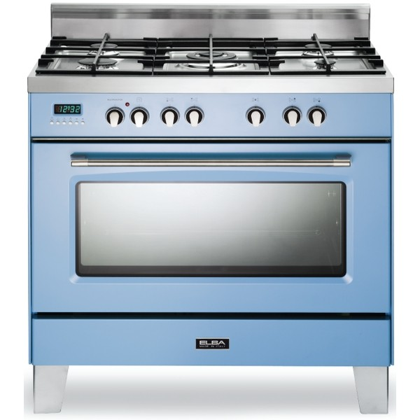 ELBA 90CM BLUE 5 GAS BURNERS WITH ELECTRIC OVEN - 01/9SVXBL889