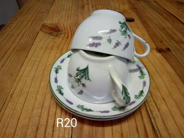 Lavender teacup and saucer set