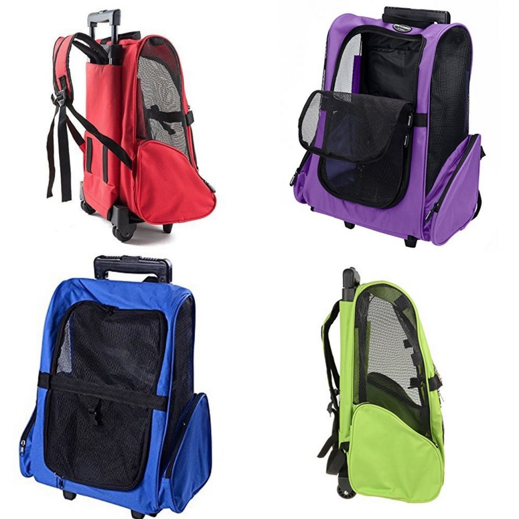 Pet Backpack Trolley (Violet)