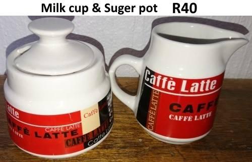 Milk and sugar pot