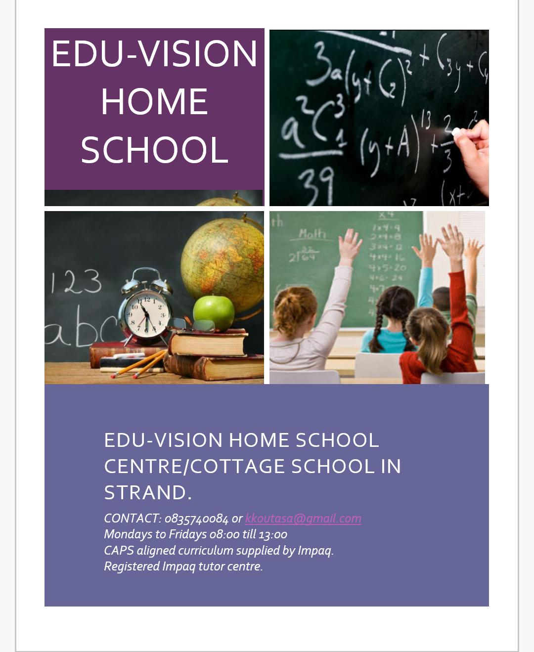Cottage school in Strand. Edu-Vision Home School Centre.