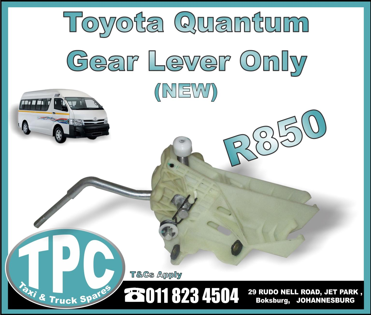 Toyota Quantum Gear Lever - New - New And Used Replacement Taxi Parts -TPC.