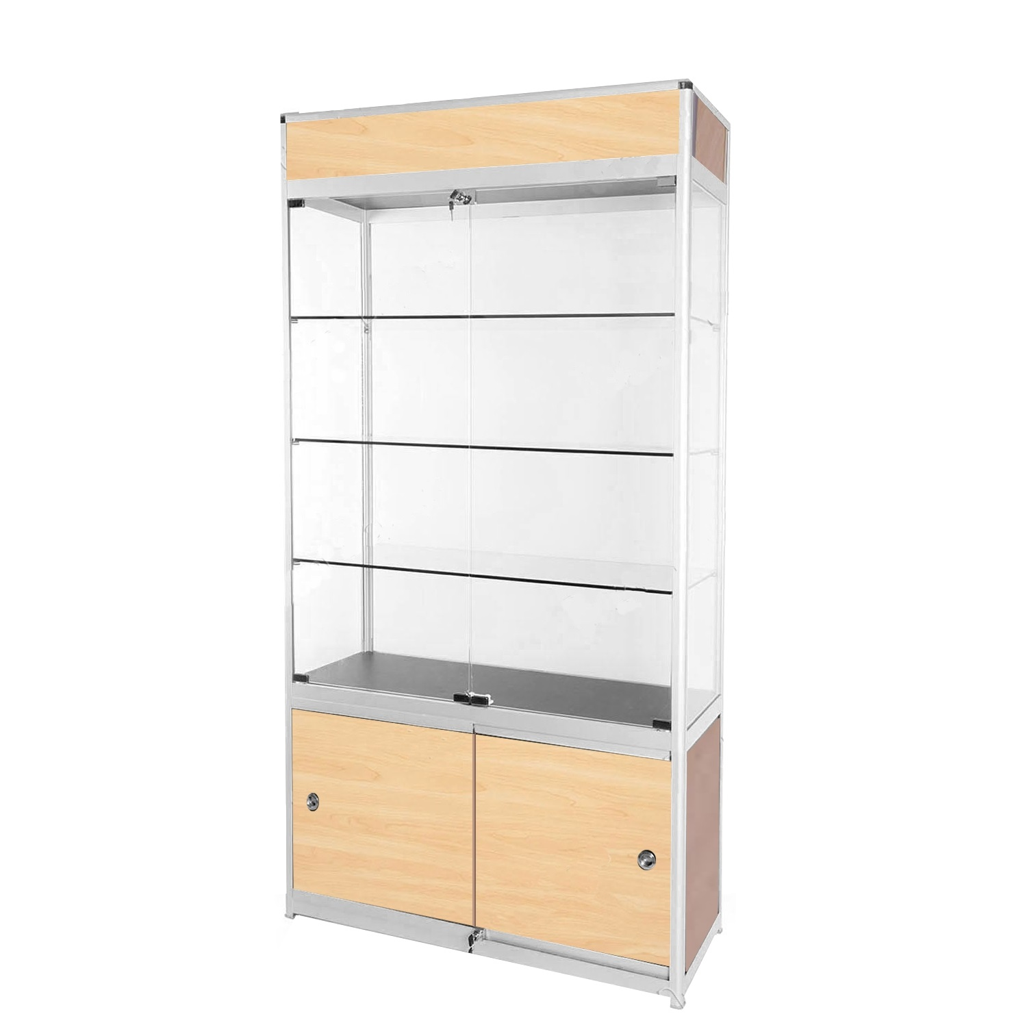attractive small of display doors cabinets glass designs cabinet with for stores