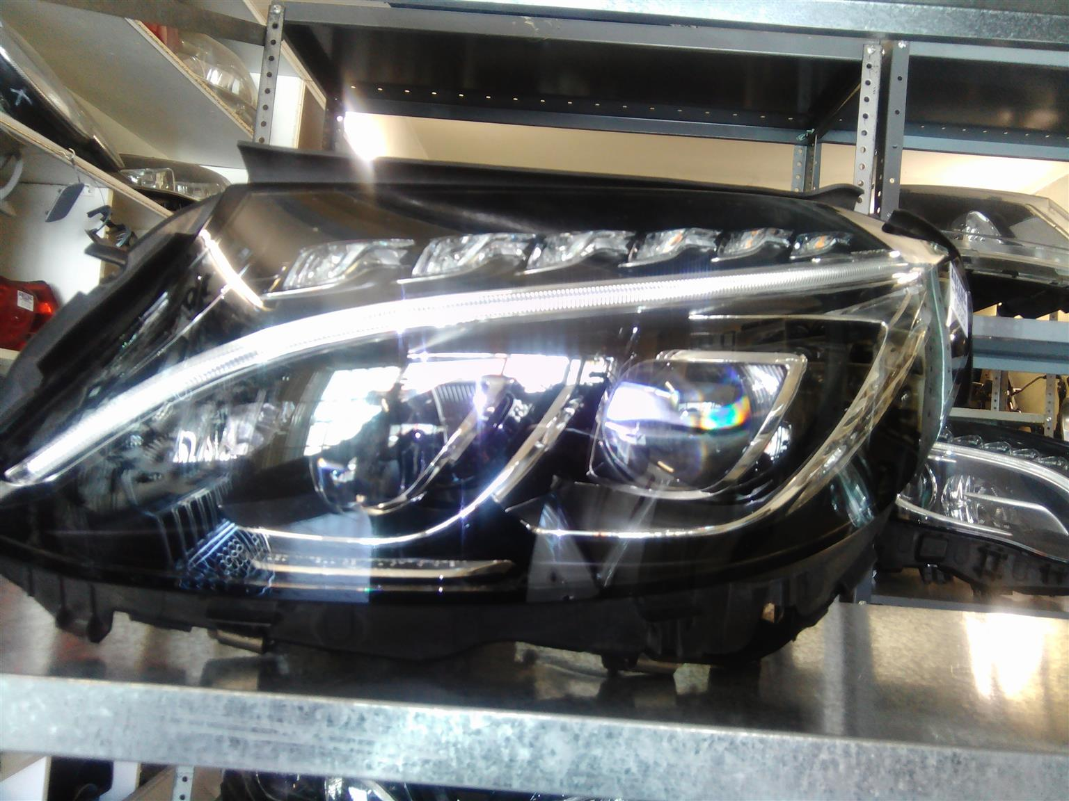 Mercedes Benz w205 headlamps double xenon available