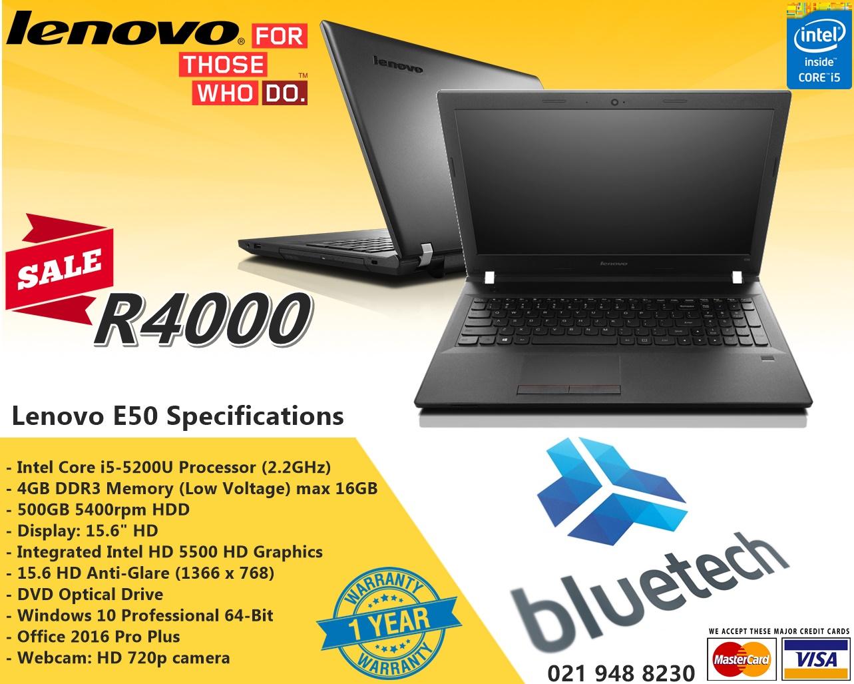 "enovo E50-80 Intel i5 15.6"" Notebook - DEMO model - Bluetech Computers"