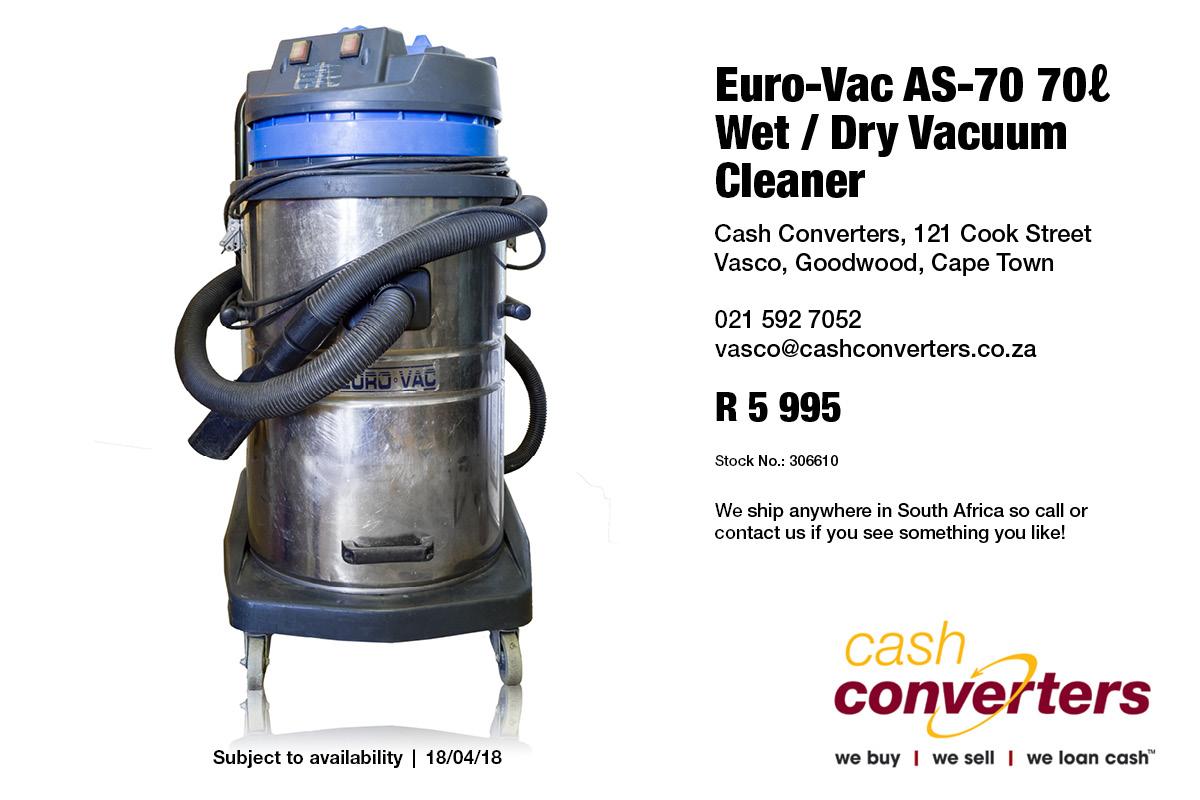 Euro-Vac AS-70 70ℓ Wet / Dry Vacuum Cleaner