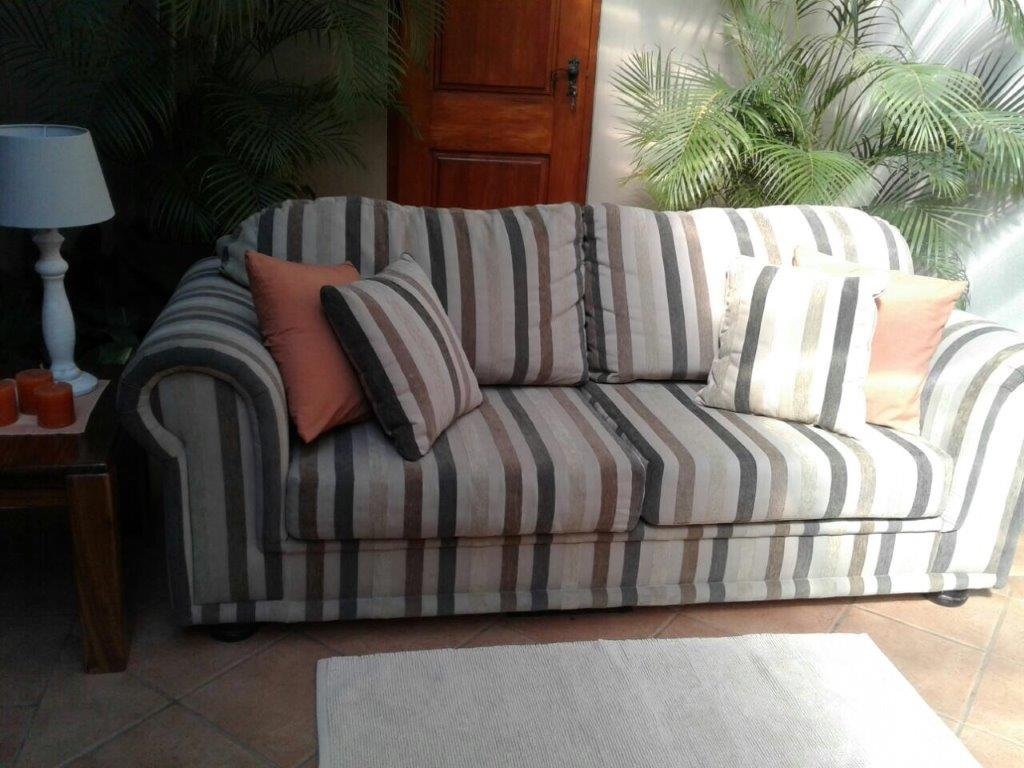 COUCH. GRAFTON EVEREST. 4DIV GREY STONE with GOLD/BROWN STRIPES COLOUR.