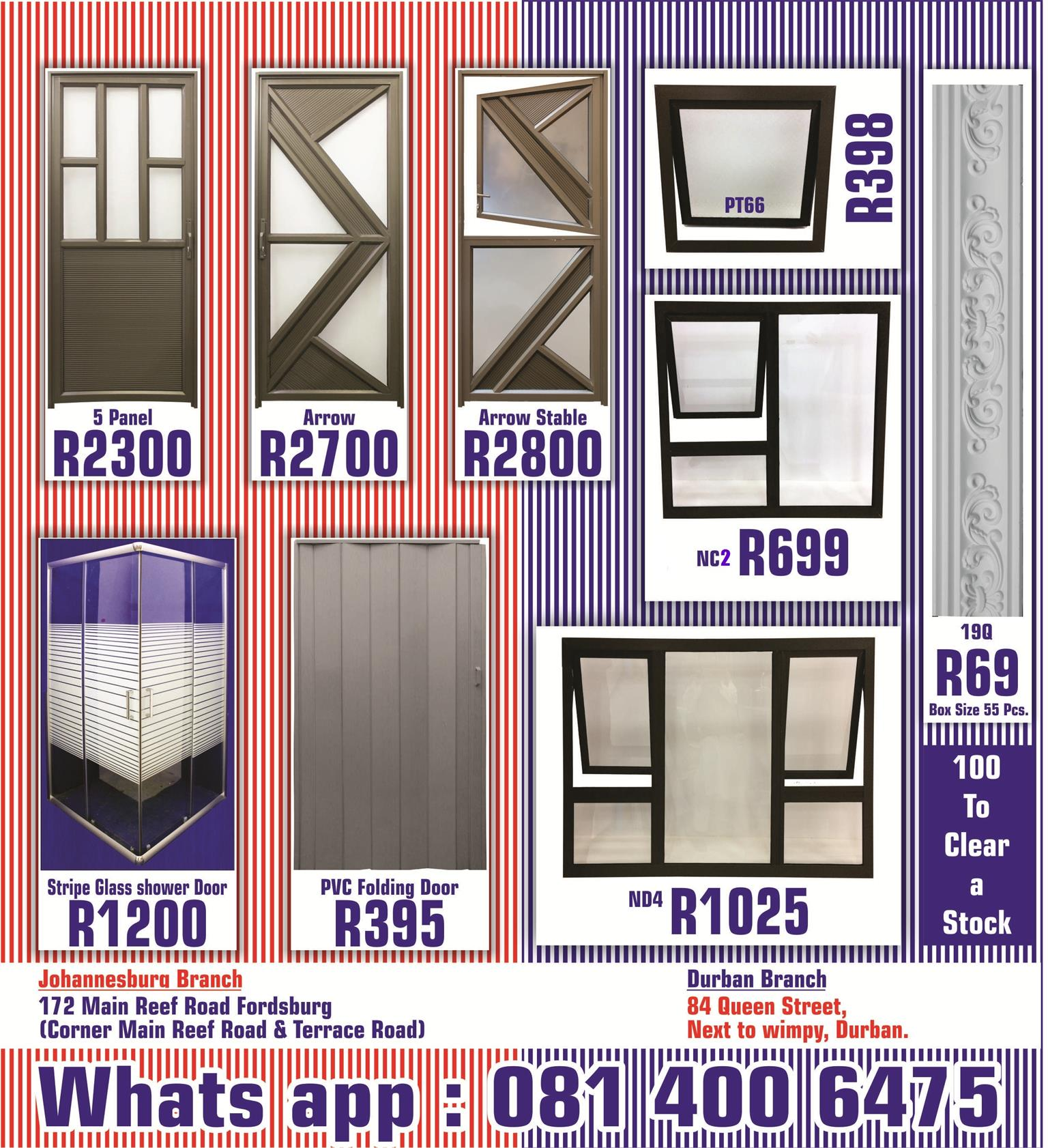 Windows And Doors In Durban Junk Mail
