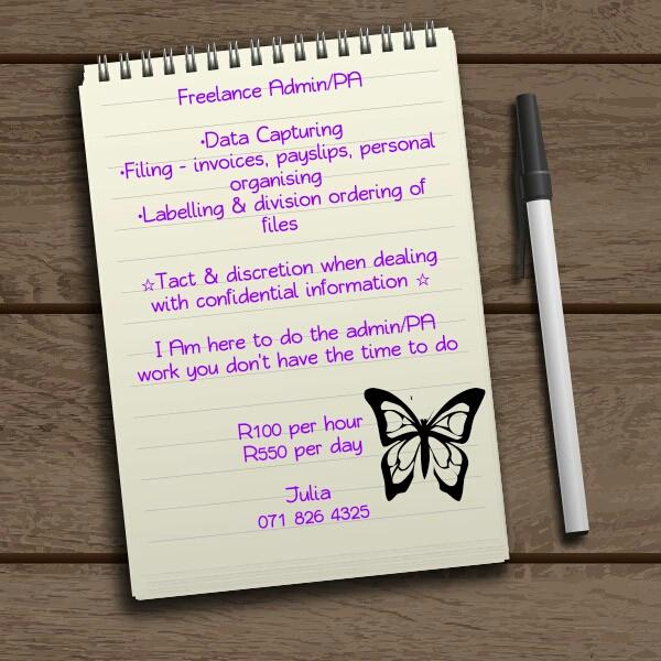 Freelance Admin & PA