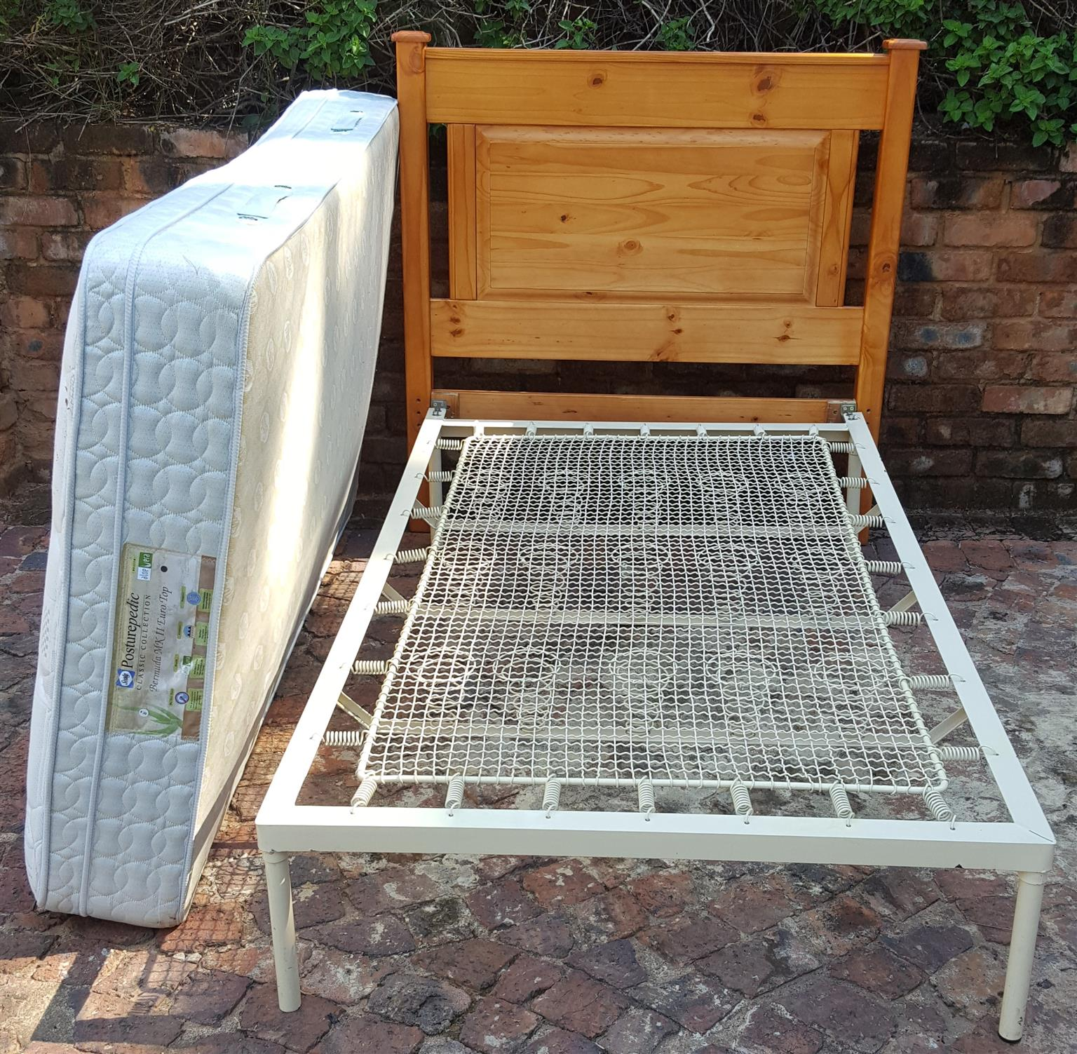 Single bed and head board without mattress available