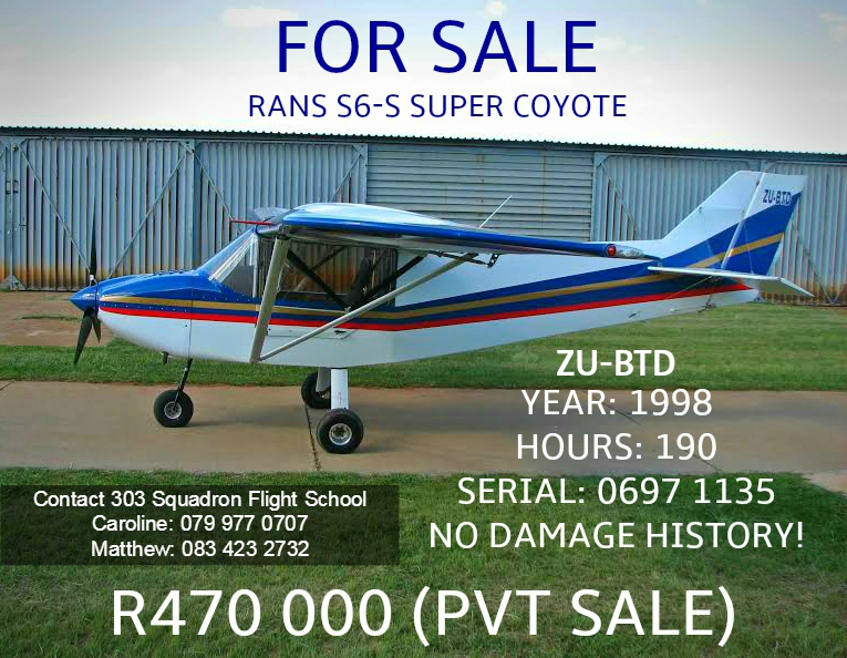 GOLDEN OLDIE: RANS S6-S SUPER COYOTE FOR SALE!