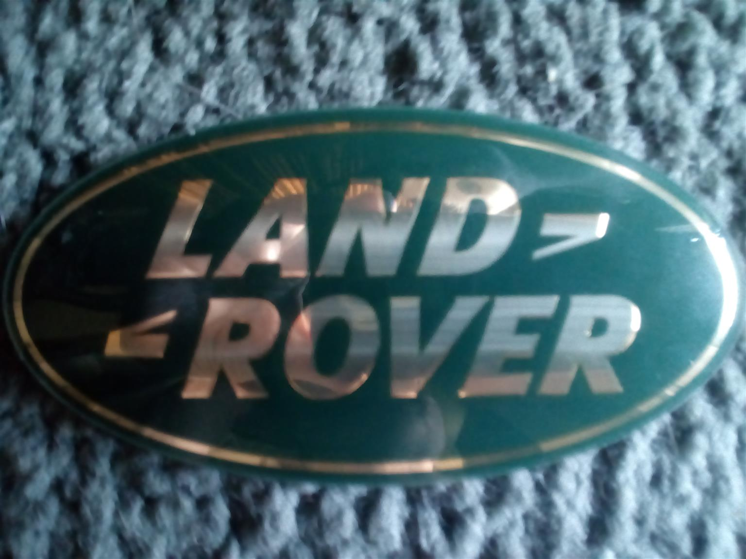 Land Rover Gold And Green Emblem Badge For Grille Junk Mail