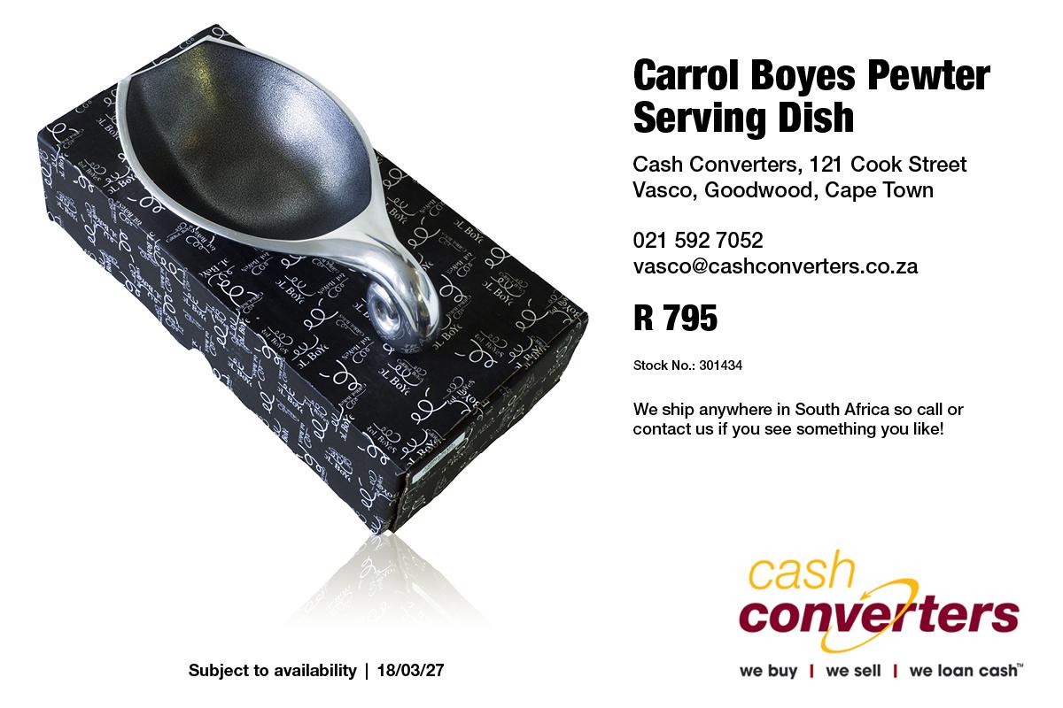 Carrol Boyes Pewter Serving Dish