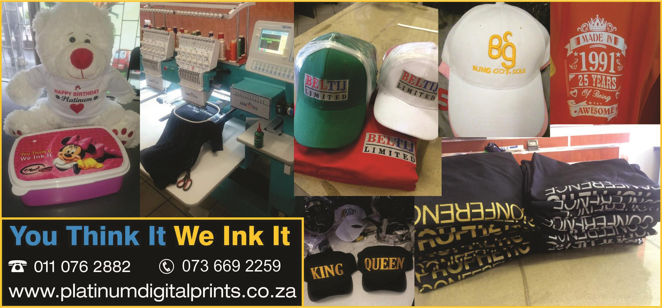 Mug Printing  R45 and T shirt Printing From R10 Call 0110762882