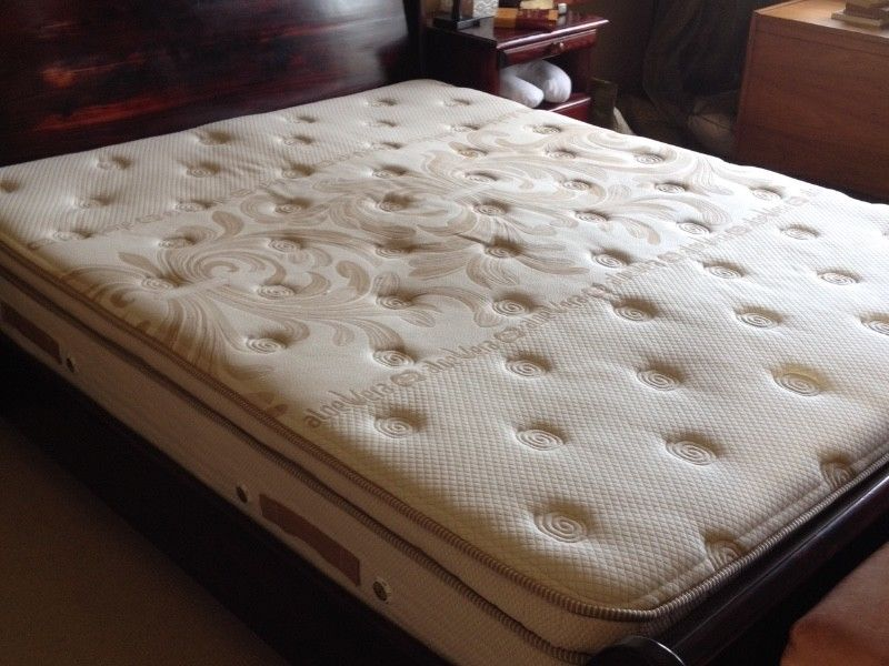 Queen size mattress and protector