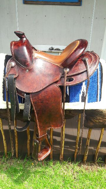Outstanding quality JRB Wade western saddle for sale