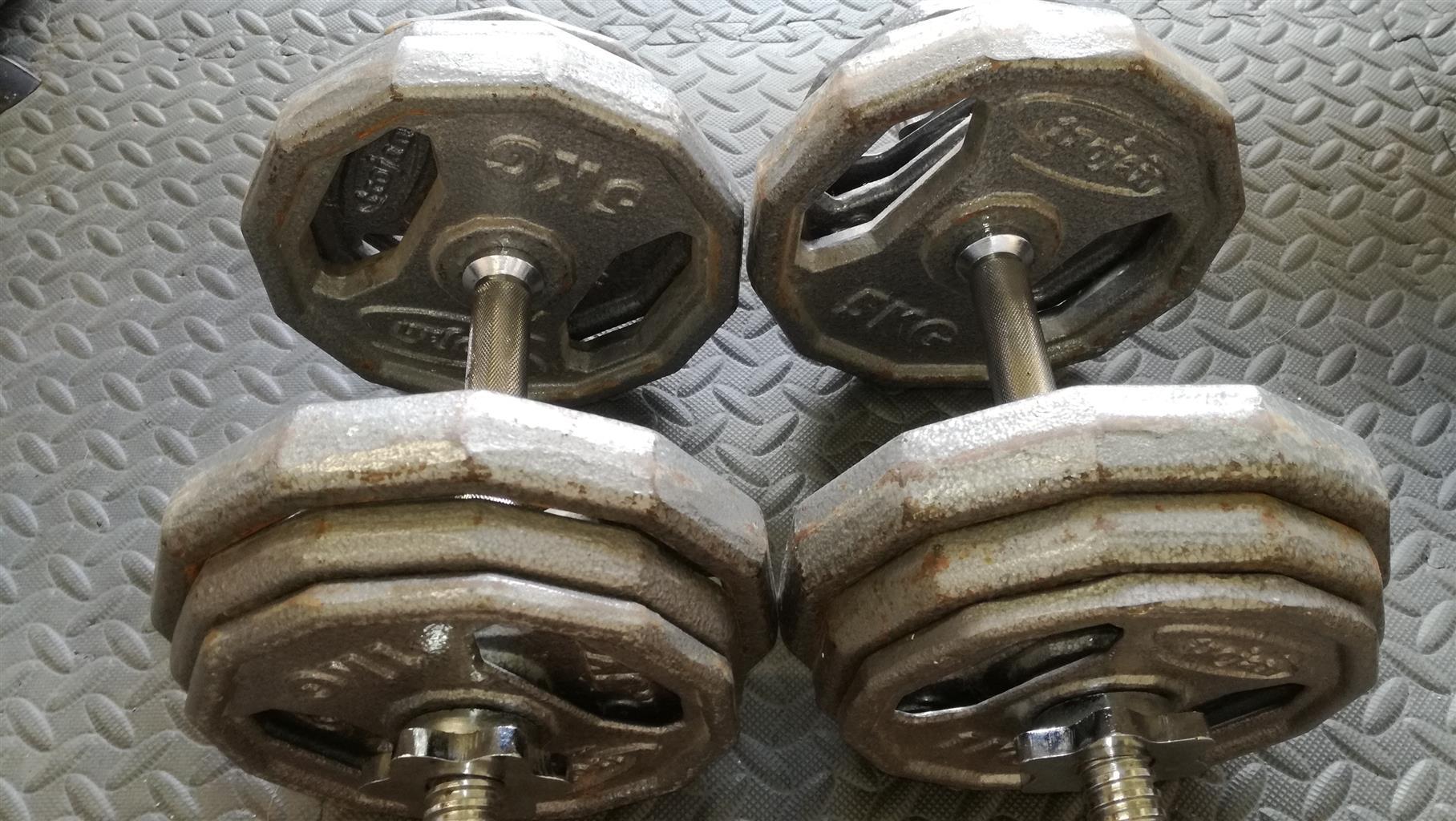 Dumbbells set  34kg