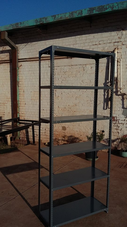 "Second Hand refurbished ""Bolt on"" steel shelving"