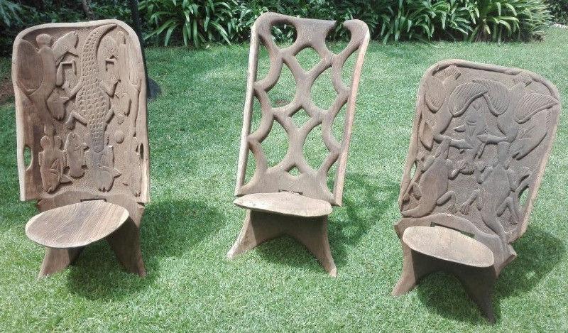 3 Malawi chairs