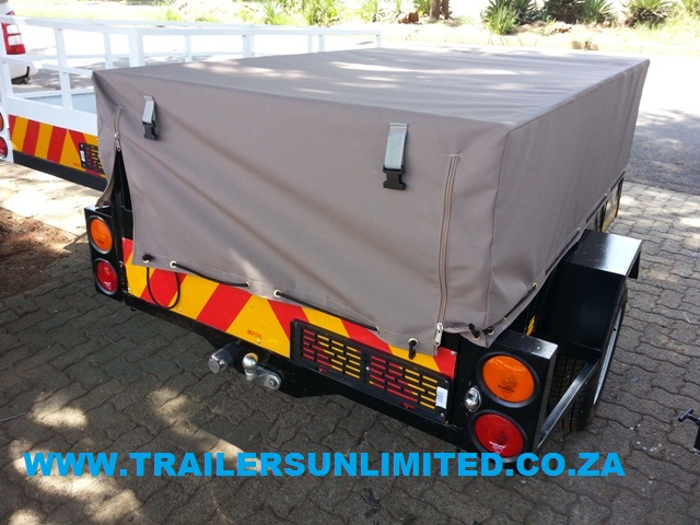 TRAILERS UNLIMITED - BUDGET UTILITY - OPTIONAL CANVAS COVER.