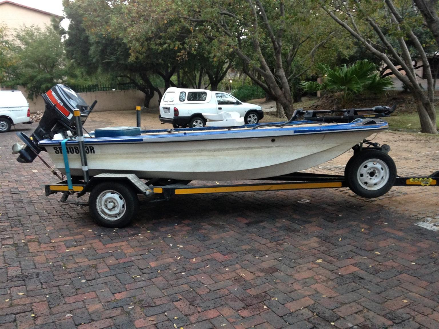 14ft St Lucia hull with 40hp Mariner (Yamaha) motor, plus extras