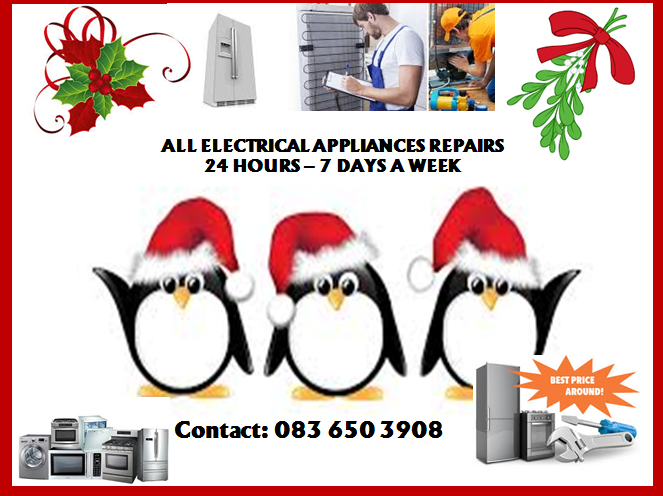 ALL ELECTRICAL APPLIANCES REPAIRS  24 HOURS – 7 DAYS A WEEK