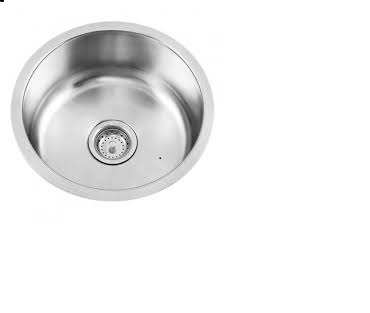3 Round Undercounter Stainless Steel Sinks - R430 each or all 3 for R1000