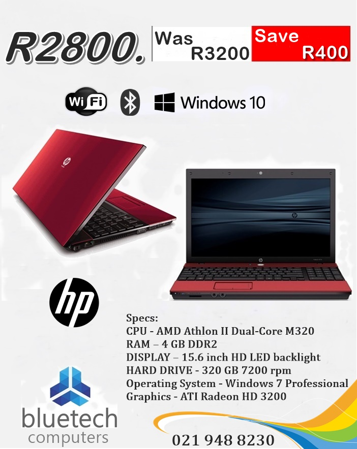 """HP ProBook 4515s 15.6"""" AMD Athlon II Dual Core, @2.10GHz, 4GB RAM, 320Gb HDD Win 7 Pro, used for sale  Cape Town - Northern Suburbs"""