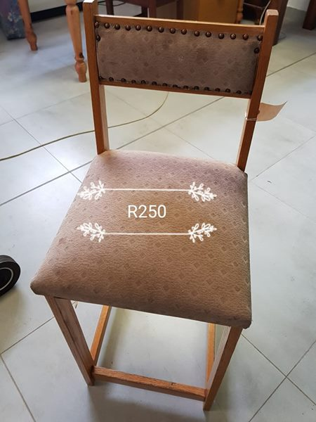 Suede top chair
