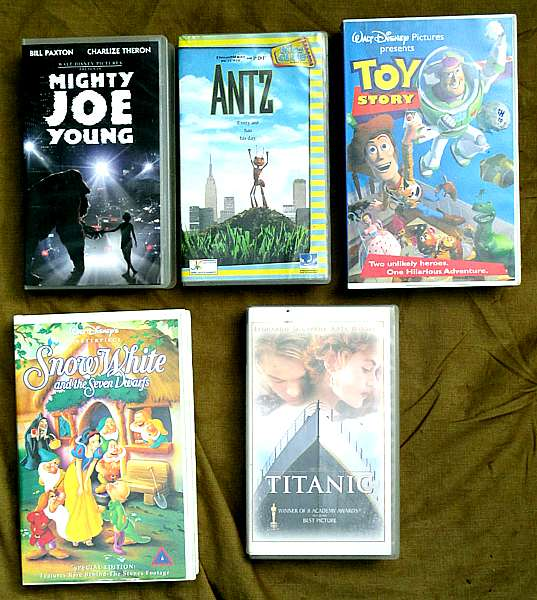 Popular VHS tape movies - condition as new