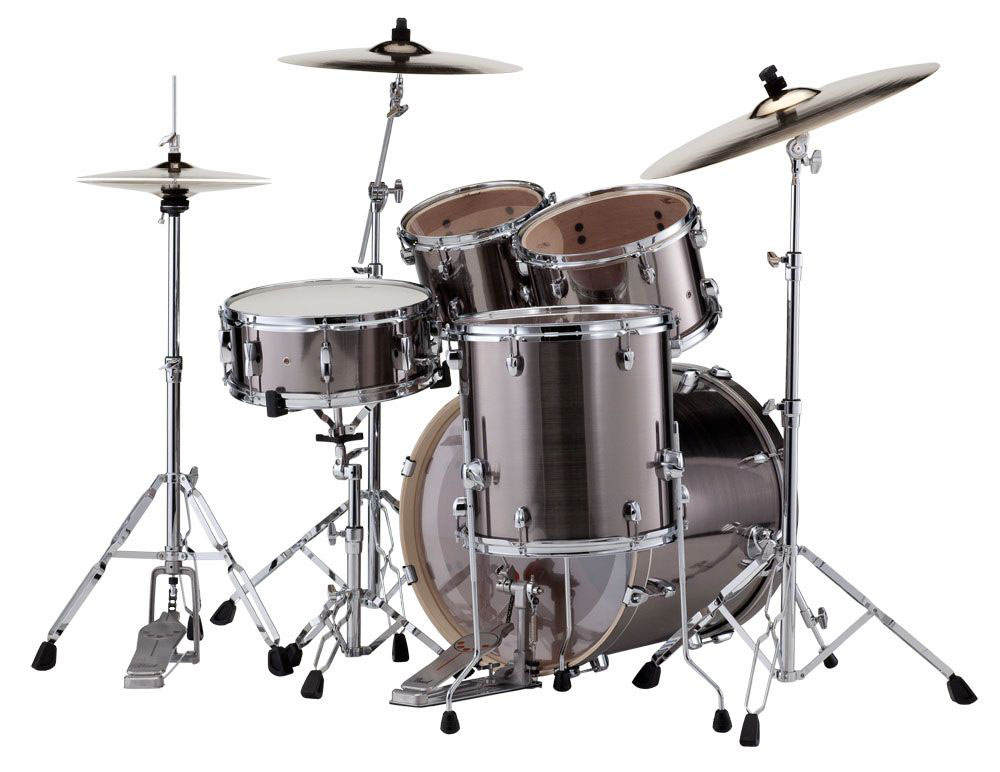 Pearl Export 5 Piece Drumset,Smokey Chrome,New. Cymbals not included!