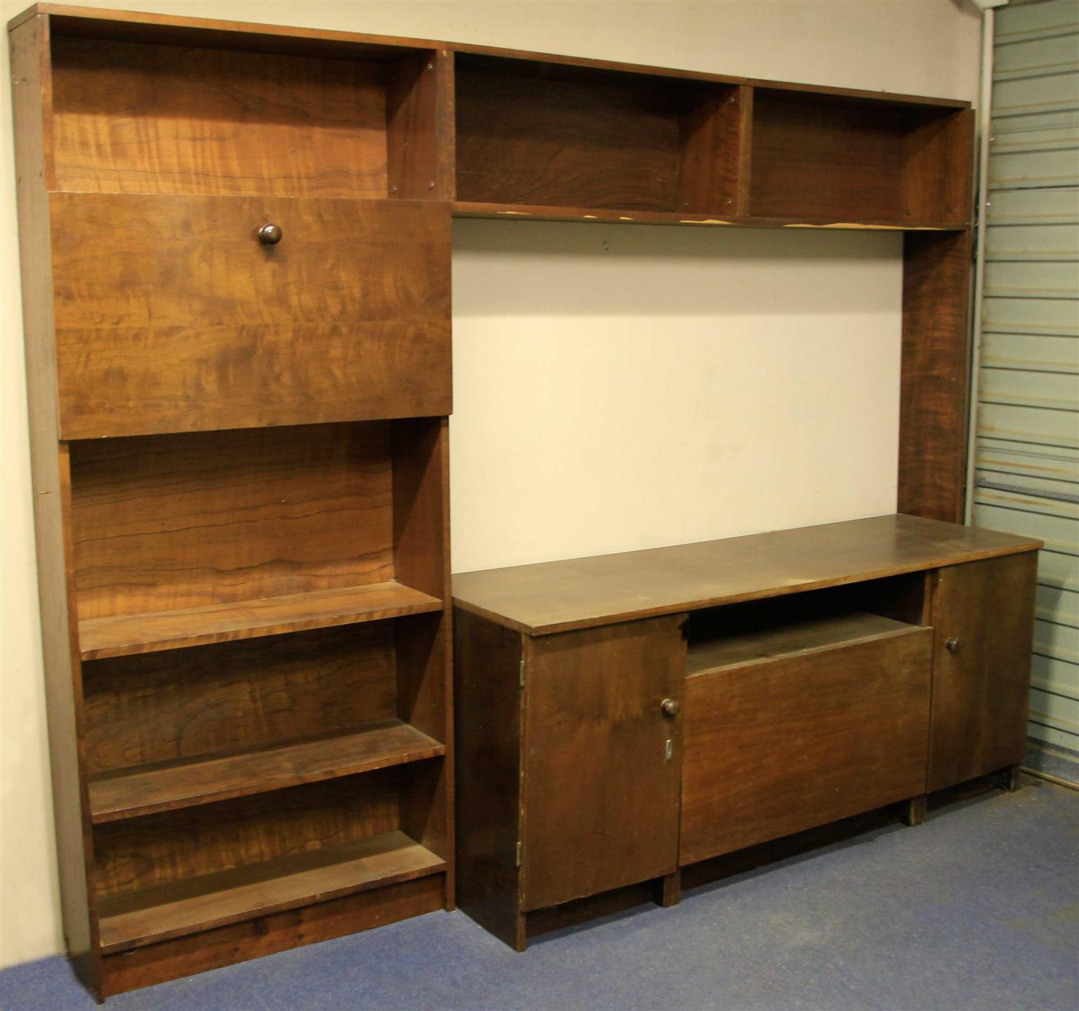 Wall TV Unit solid wood Embuia