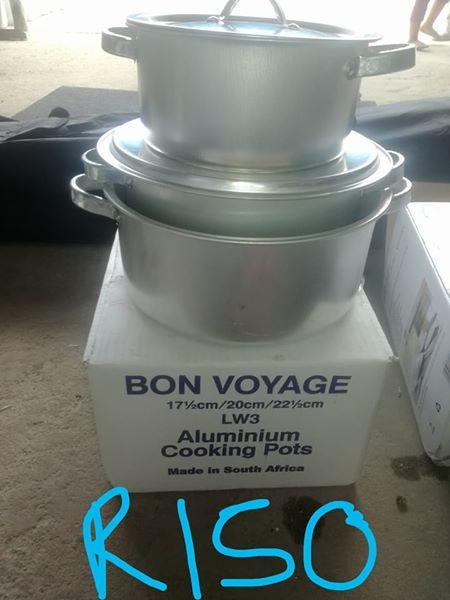 Aluminium 3 set pots