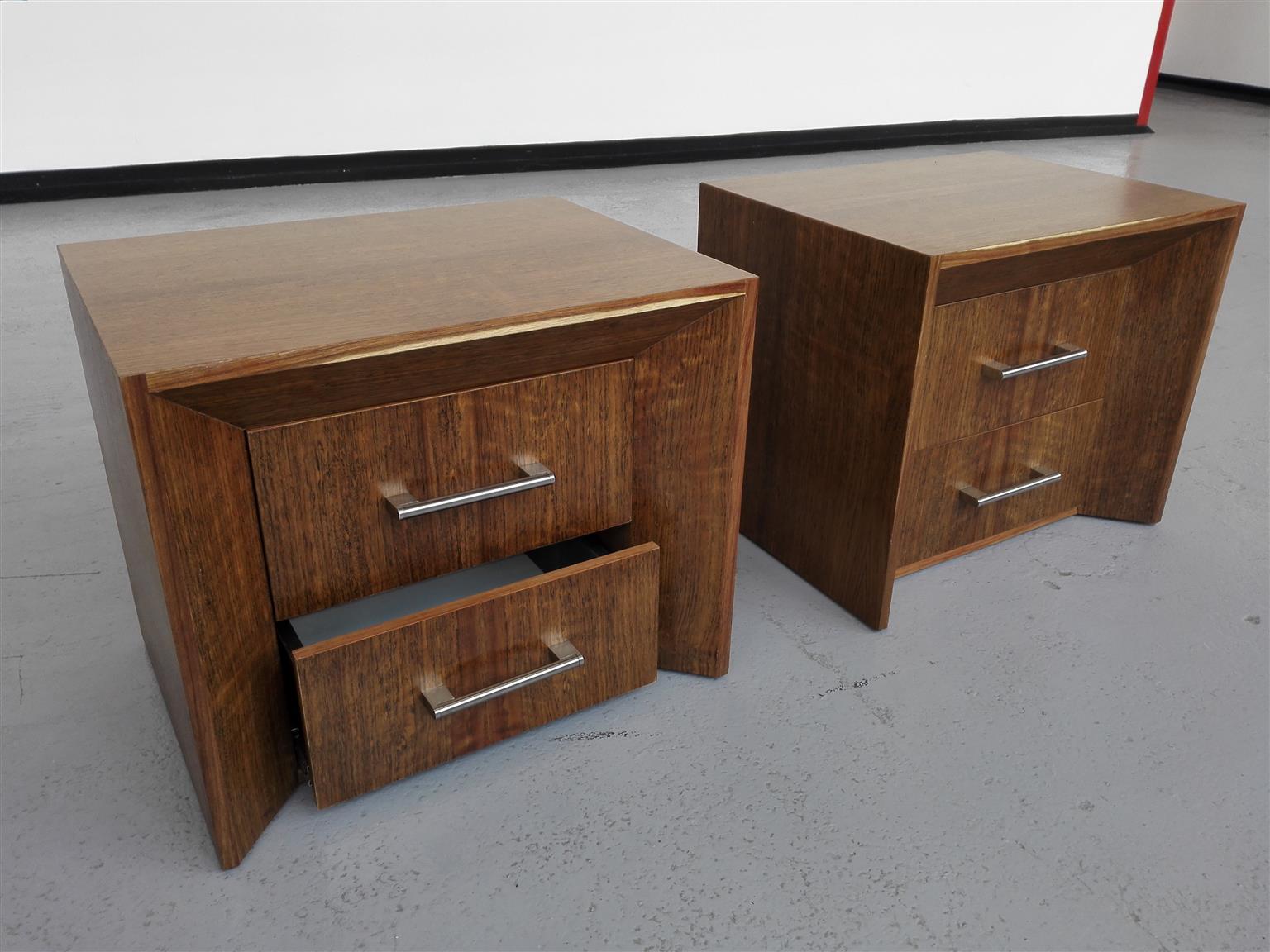 Imbuia bedside table