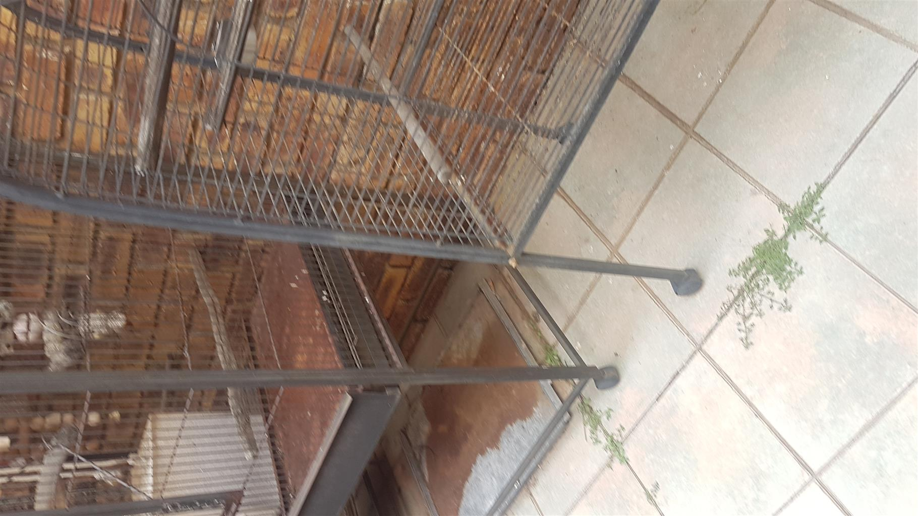 Medium and large size cages for sale, Fairly good condition.