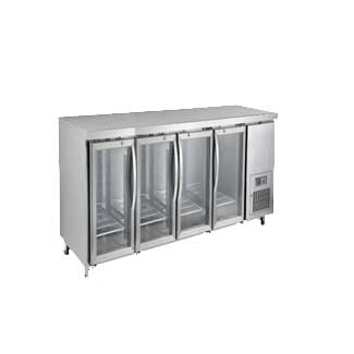 Undercounter fridge-glass door-4 door lock-EPF3741