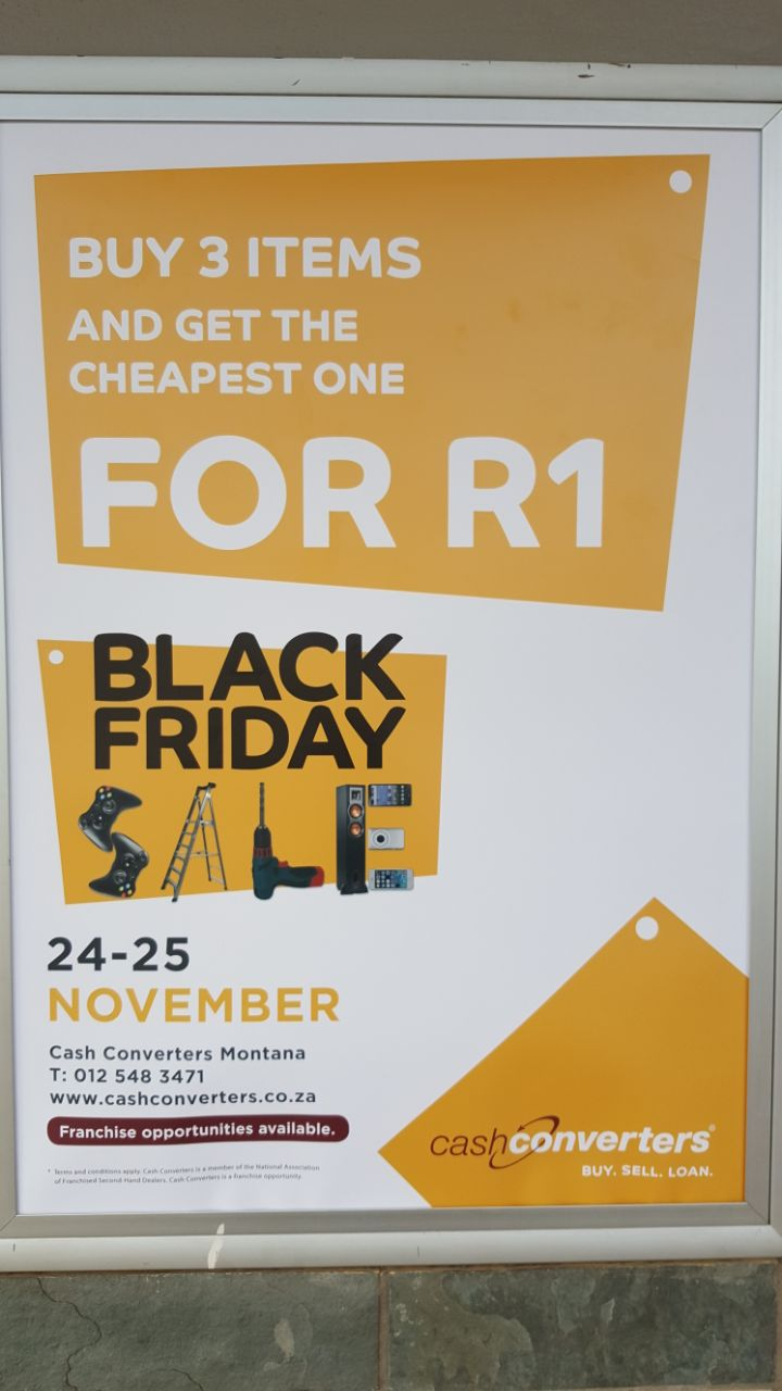 Black Friday Specials Cash Converters Montana, Pretoria