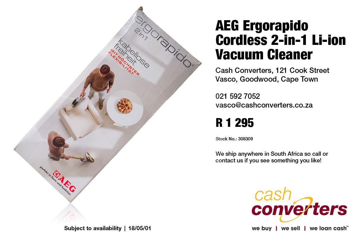 AEG Ergorapido Cordless 2-in-1 Li-ion Vacuum Cleaner