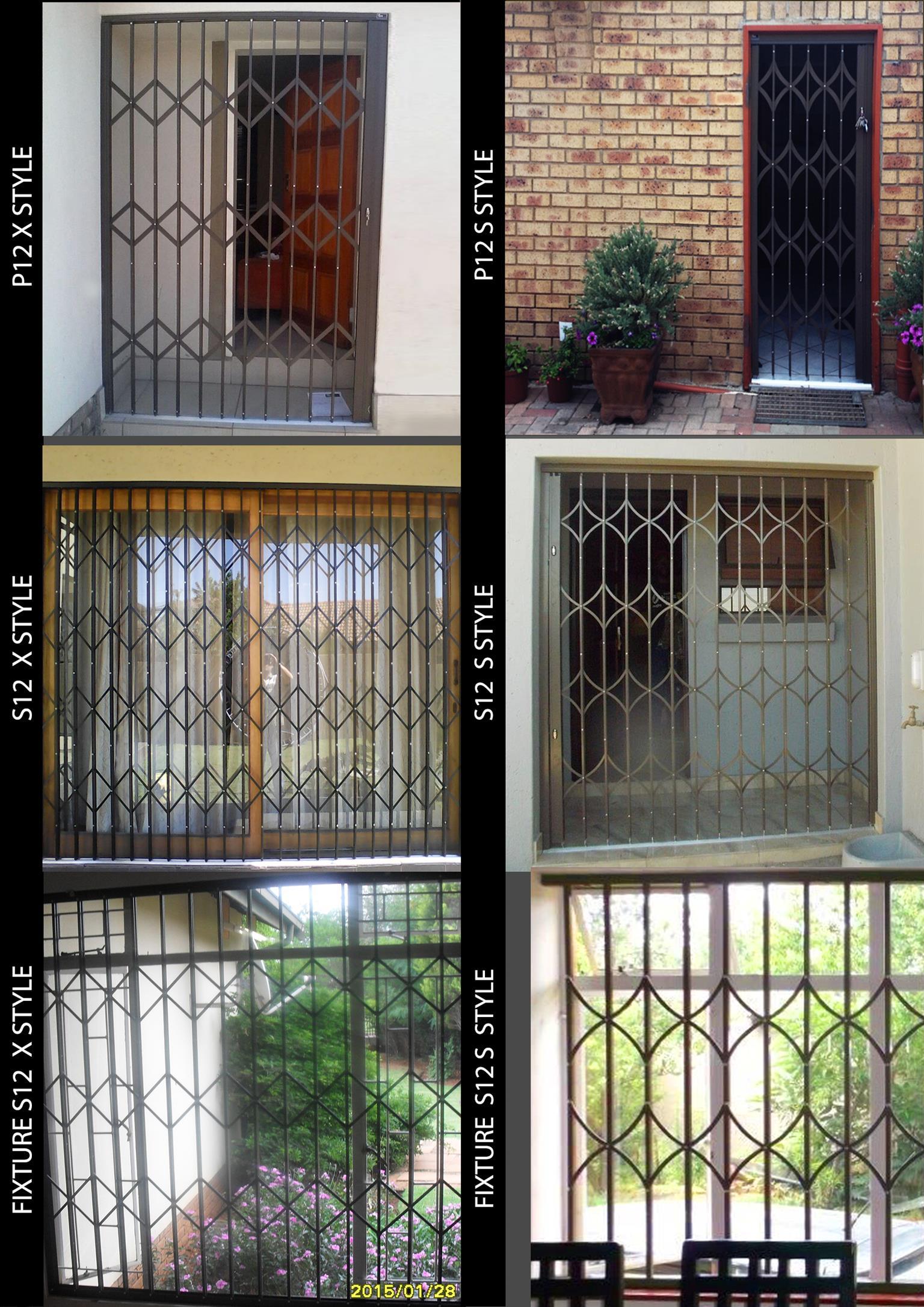 Sliding security doors and windows
