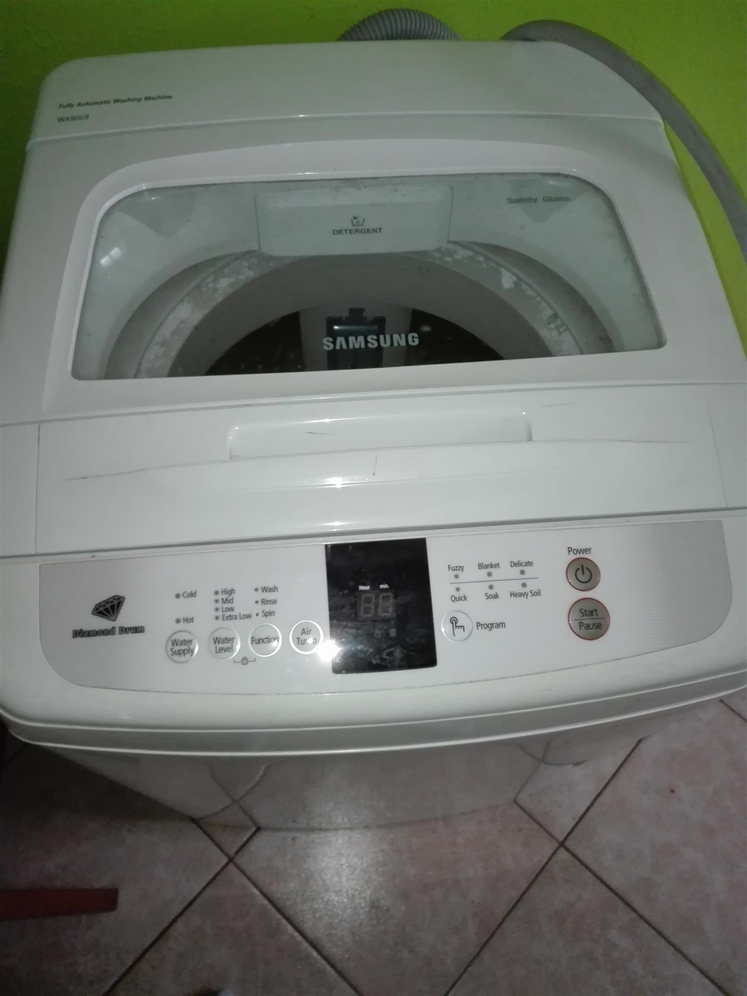 Washing machine and double bed for sale