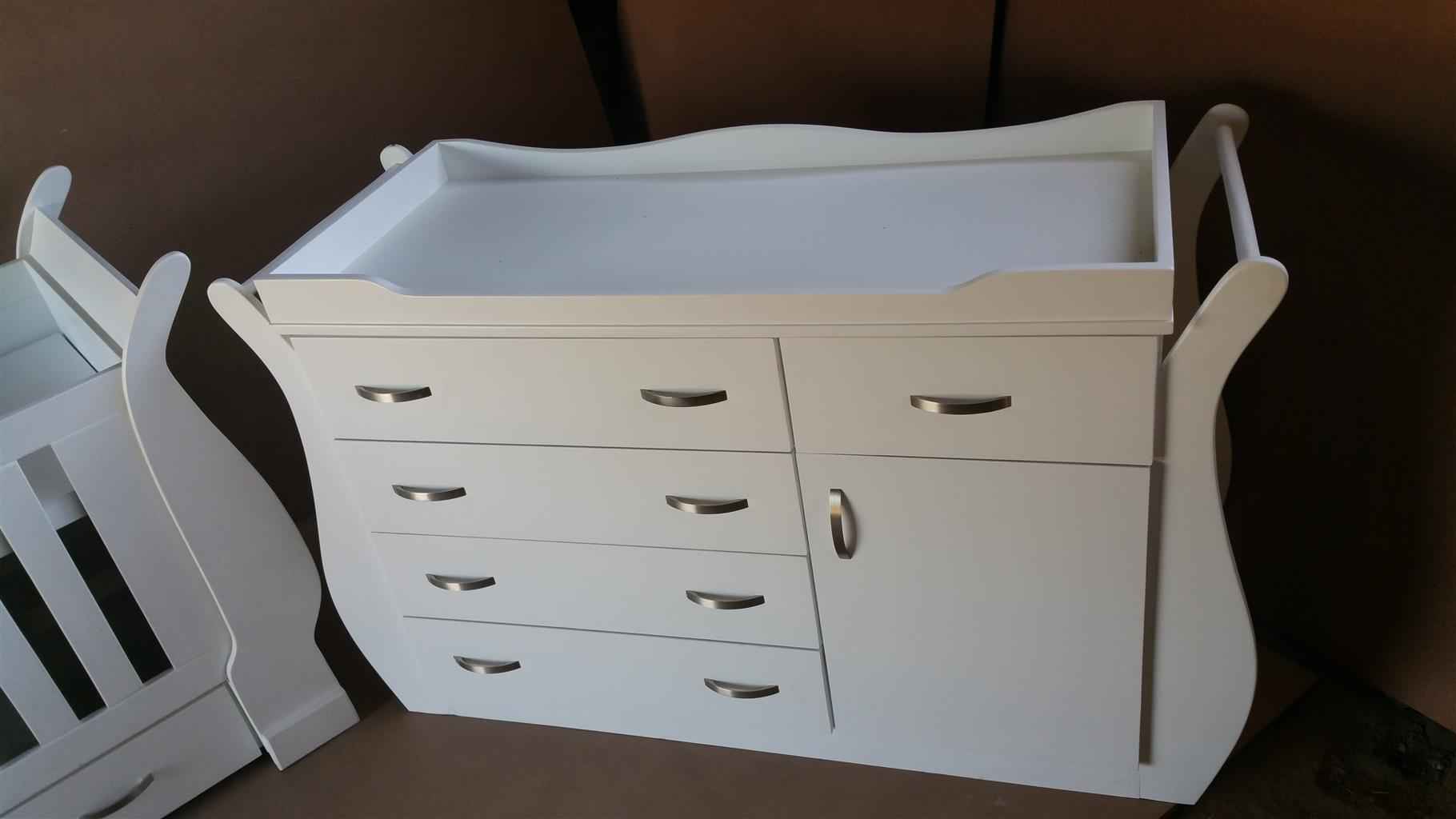 Marigold Sleigh Combo, Baby Cot and Compactum R5499,00