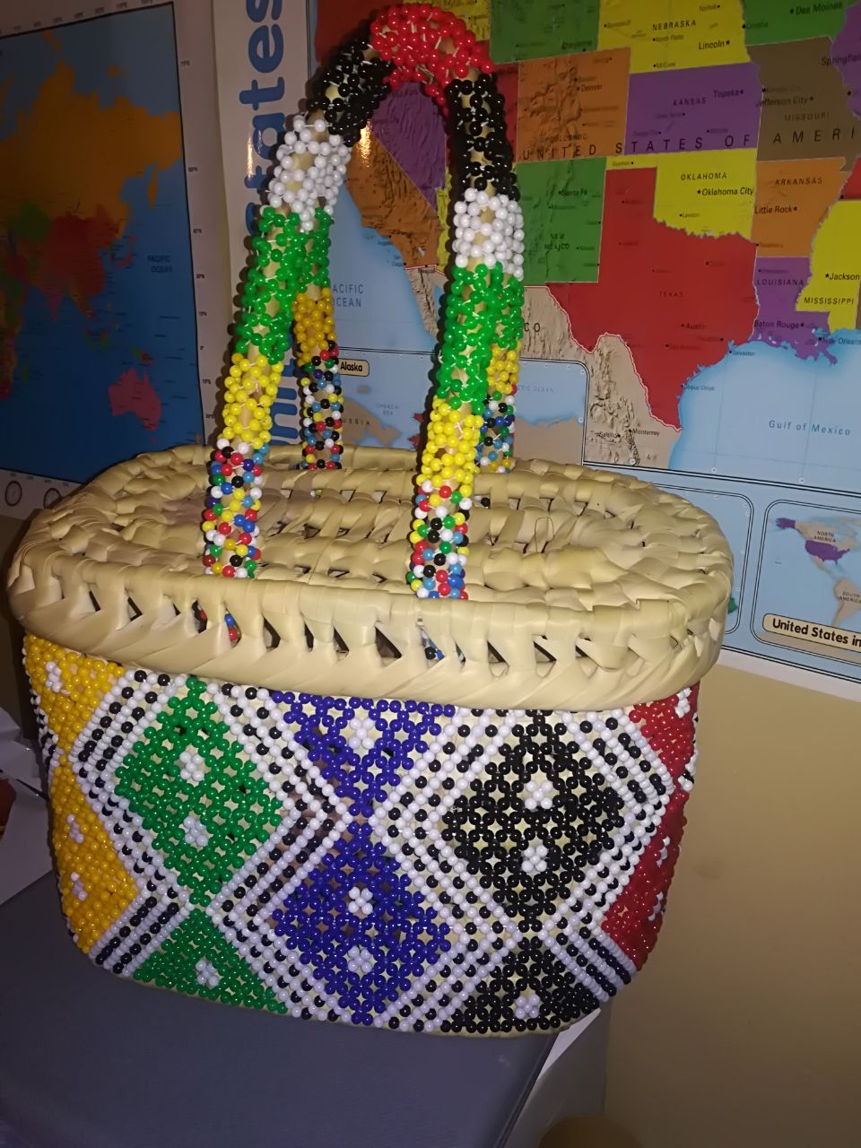 Beaded Picnic Basket