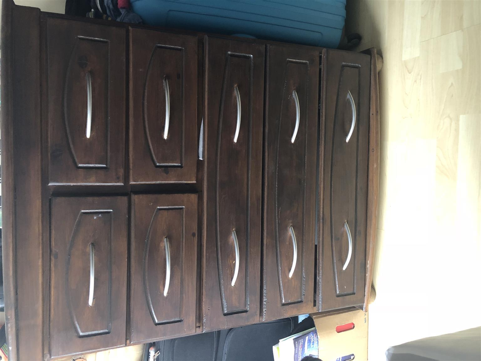 Set of drawers, bedroom cupboard mirror and washing line