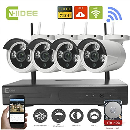 720p Wireless Ip Camera Cctv Security Surveillance System Nvr Kit-4ch  1. HD video output