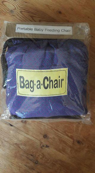 Bag-a-chair (portable feeding chair)