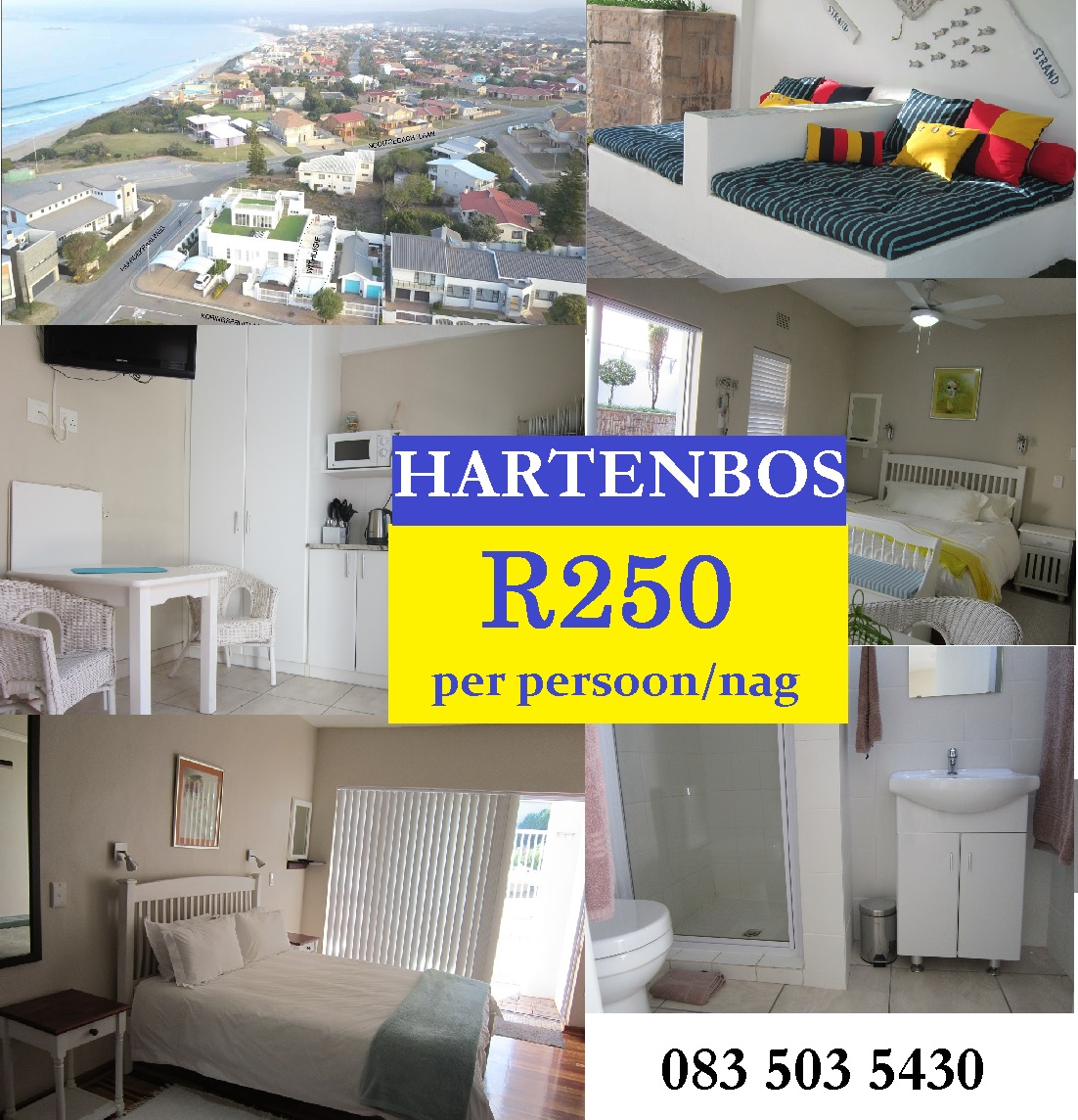 Accommodation in Hartenbos @R250 per person