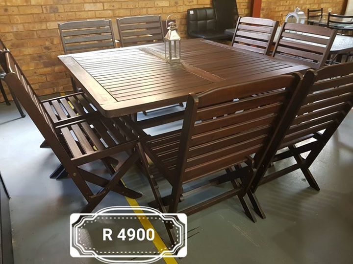 Teak 8 seater patio set