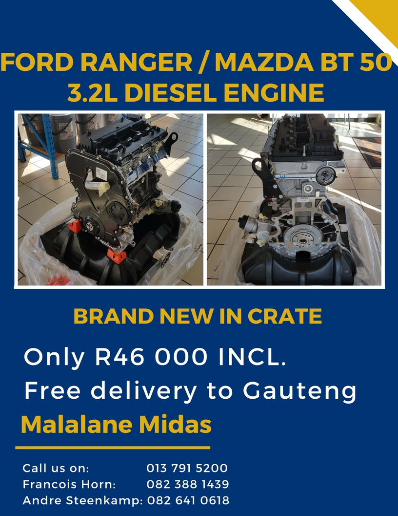 BRAND NEW ENGINE 3 2L FORD RANGER / MAZDA BT 50 DIESEL