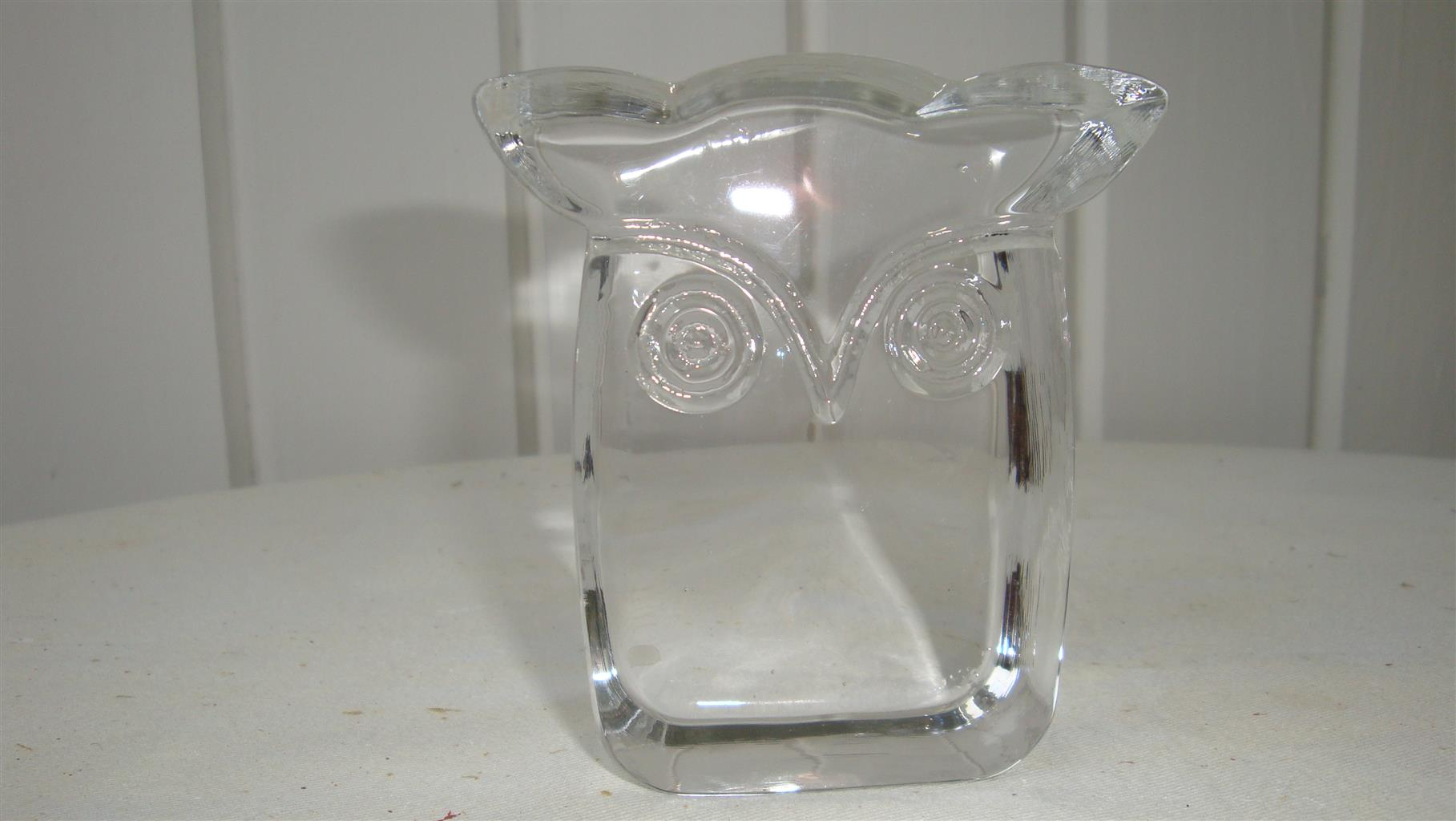 Owl crystal d'arques paperweight
