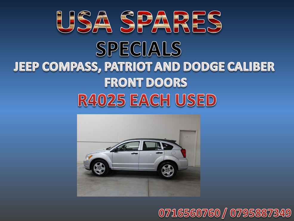 DODGE CALIBER FRONT DOORS ON SPECIAL